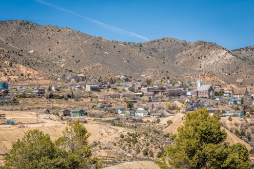 View of Virginia City, Nevada