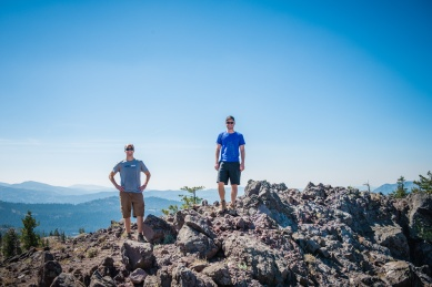 Chris and Scott at the top of Andesite Peak