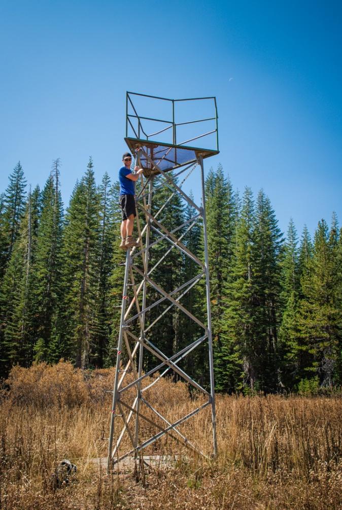 Scott isn't afraid of heights...