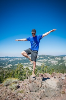 Scott's Karate Kid pose