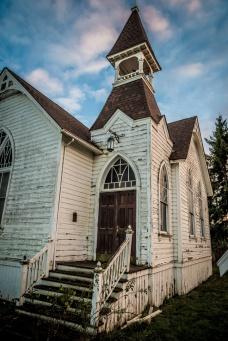 Abandoned church in Shedd, Oregon