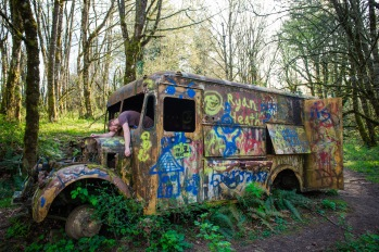 Come take a ride on the zombie bus...