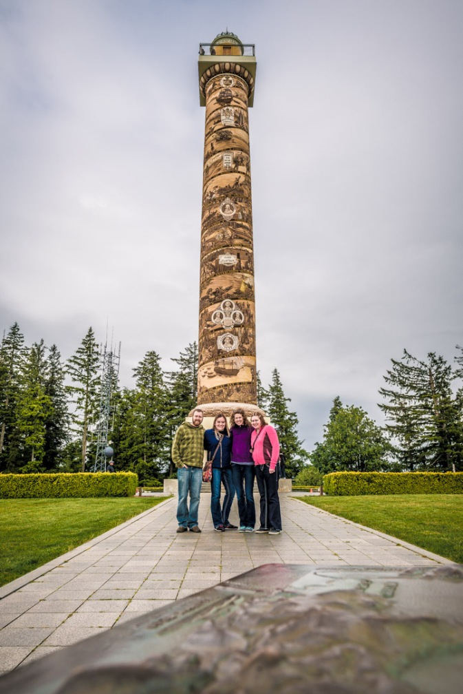 Devin, Melissa, Melanie and Erin - Astoria Column