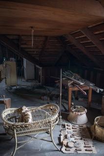 Bassinet in the attic