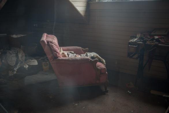 Servant's quarters in the attic