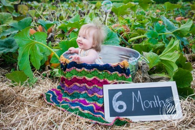 Miss Violet's 6 Month Photos-3