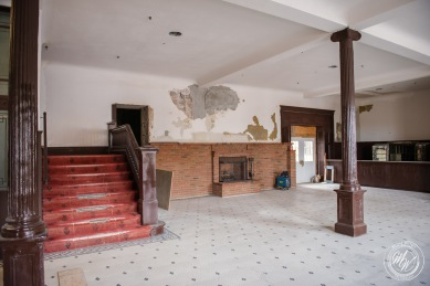 The main entry way to the Goldfield Hotel. — in Goldfield, Nevada.